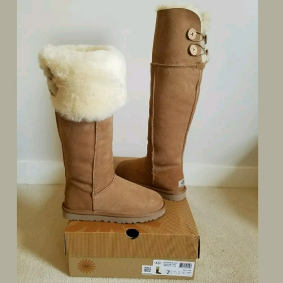 474ccdbb29f SOLD Ugg 7 Bailey button over the knee boots NEW NWT